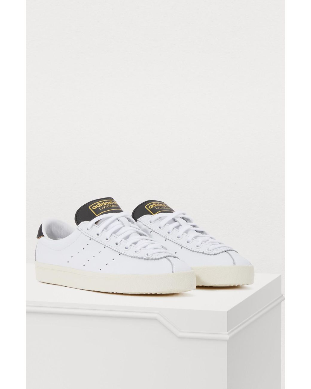 on sale ebf53 91099 adidas Lacombe Sneakers in White - Lyst