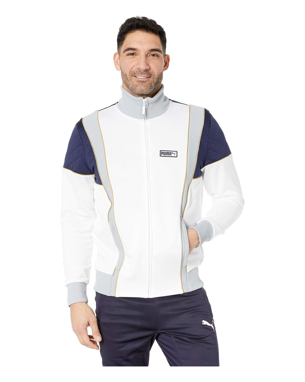 0f69ecb6cf8d Lyst - PUMA Lux Spezial Track Jacket in White for Men - Save 63%