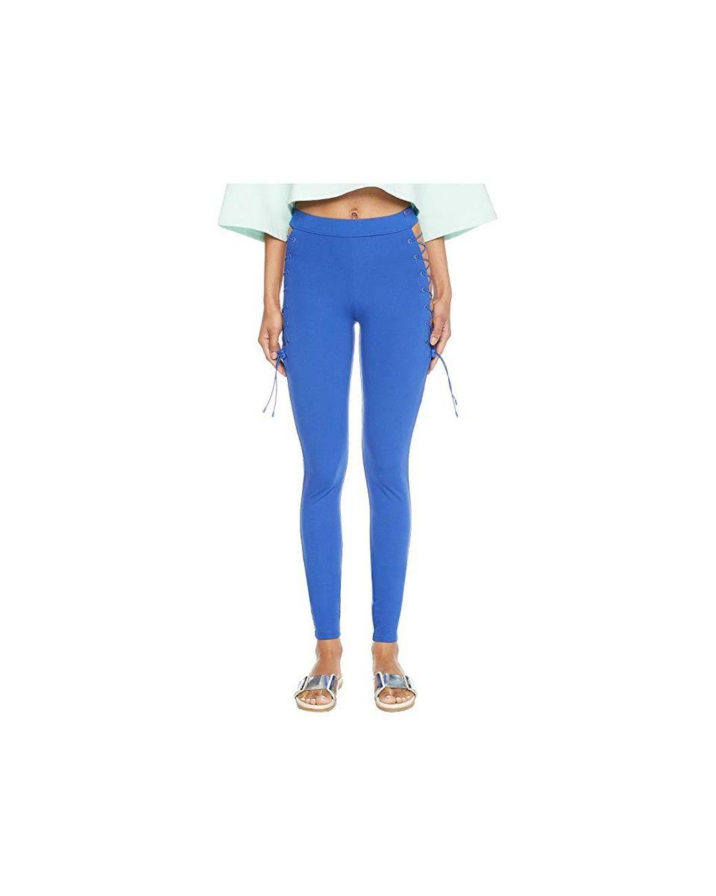 d3ceb2efcde PUMA X Fenty By Rihanna Side Lace Leggings (dazzling Blue) Casual Pants in  Blue - Save 65% - Lyst