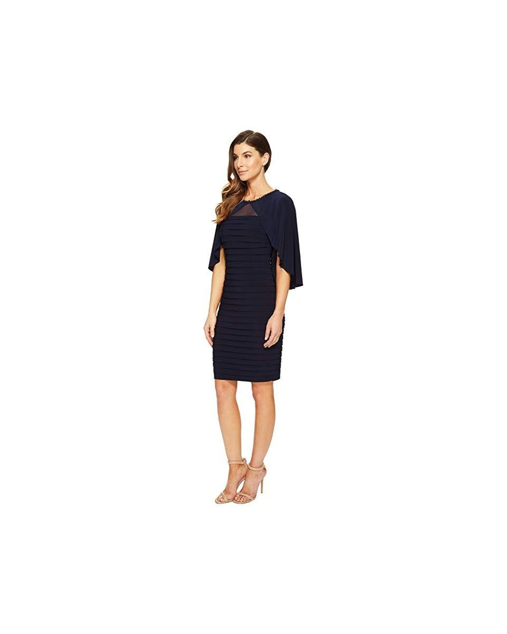 8eb730f77d49 Adrianna Papell Matte Jersey Banded Cape Dress (blue Moon) Dress in Blue -  Save 36% - Lyst