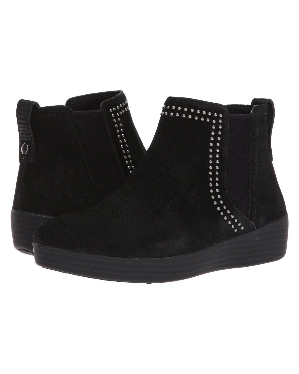 f9a6ccea08 Lyst - Fitflop Superchelsea Suede Boot W  Studs in Black - Save 35%