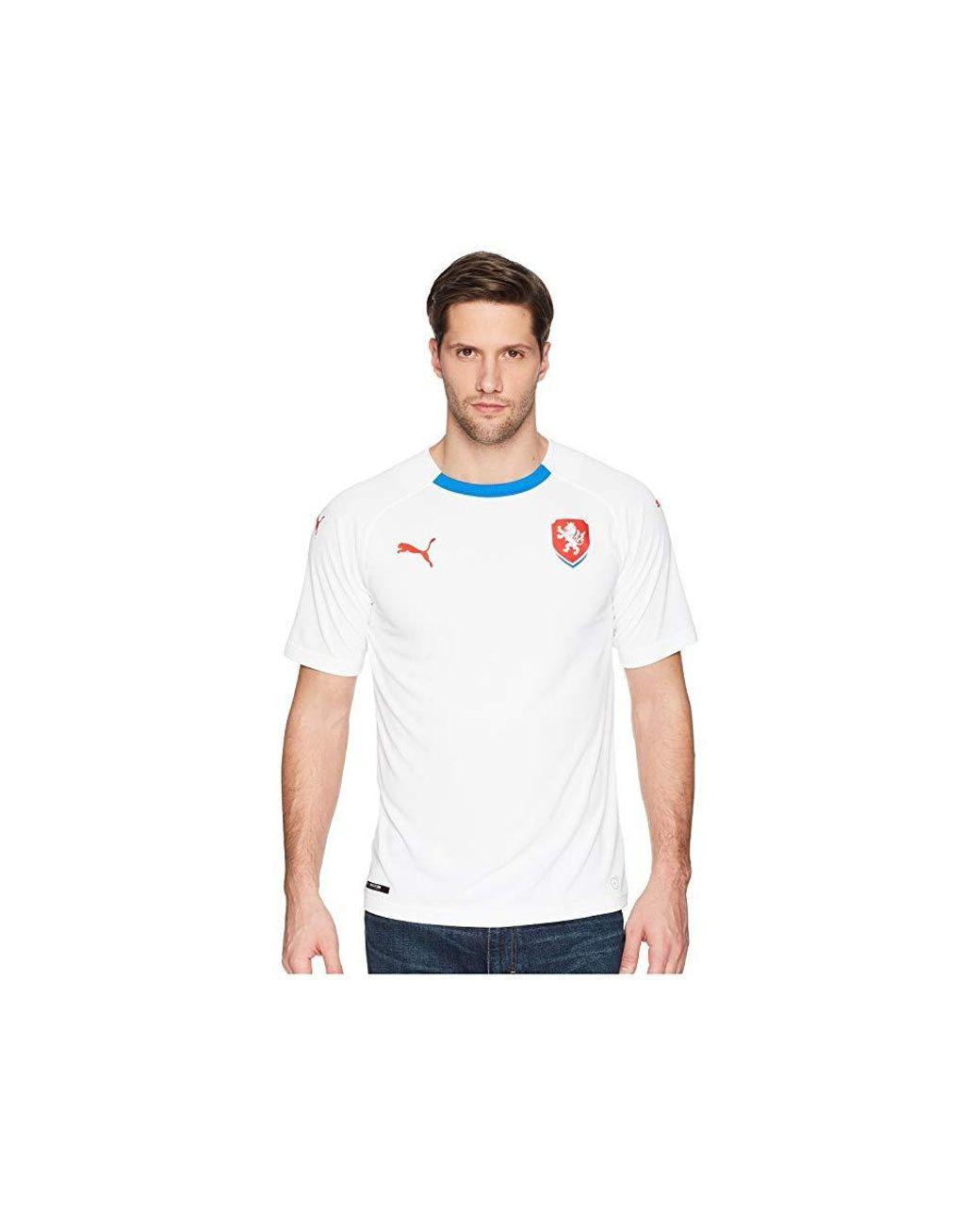 e846f55a35d PUMA Czech Republic Away Replica Shirt ( White/ Royal) Clothing in White  for Men - Save 9% - Lyst