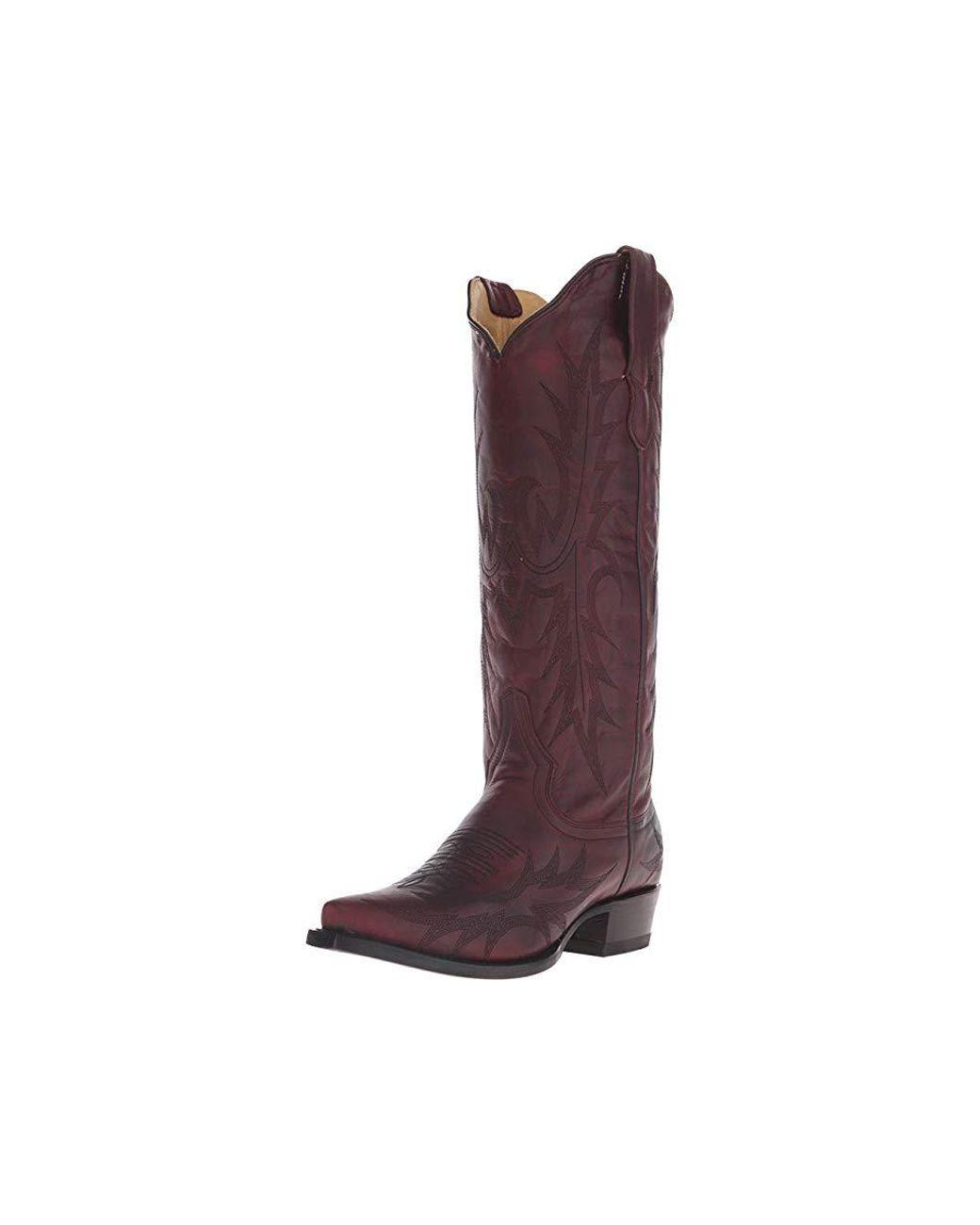 3f70e07783d Women's Brown Violet (burgundy Vamp) Cowboy Boots