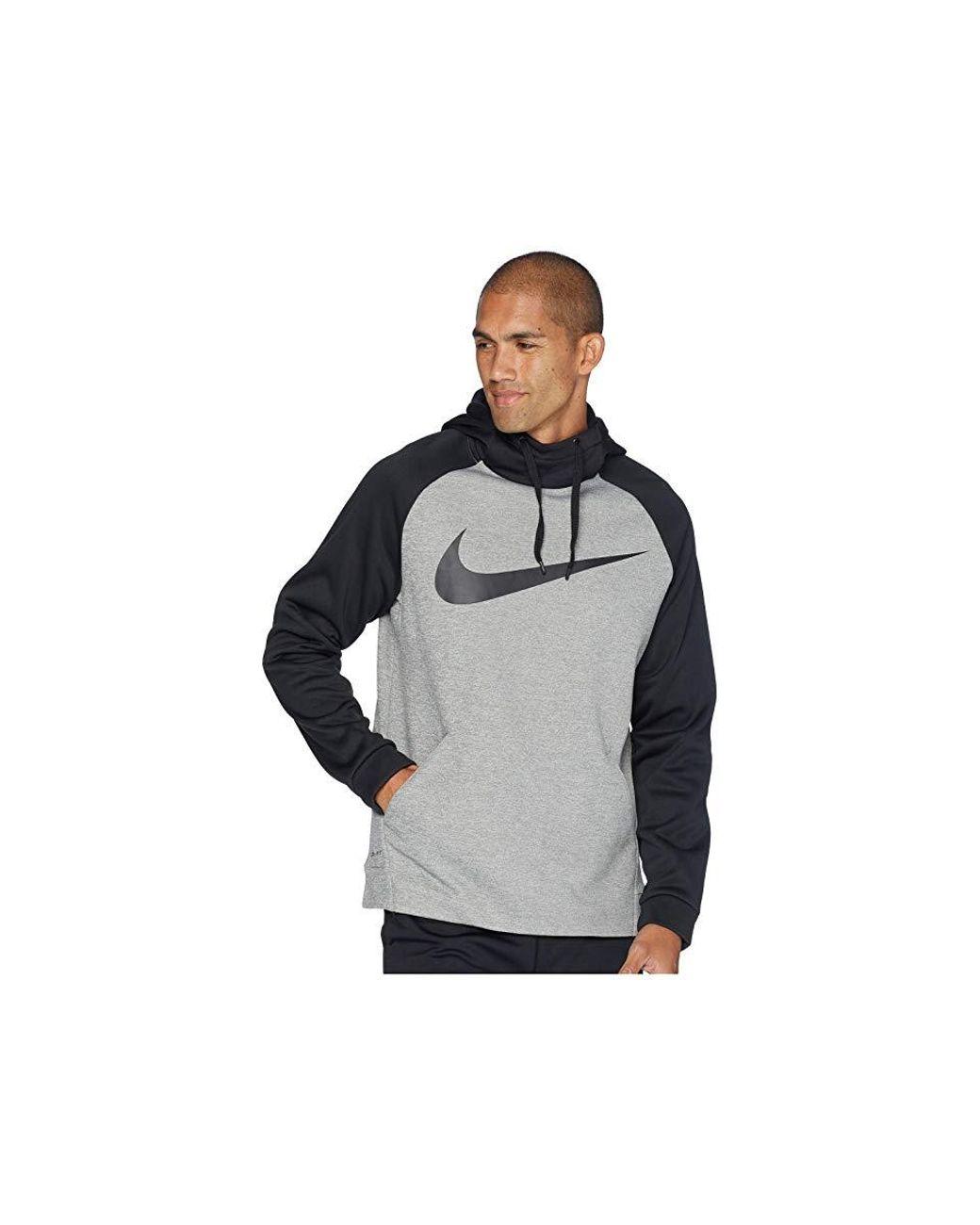 5090281d62 Nike Thermal Hoodie Swoosh Essential (dark Grey Heather/black/black)  Sweatshirt in Gray for Men - Save 29% - Lyst