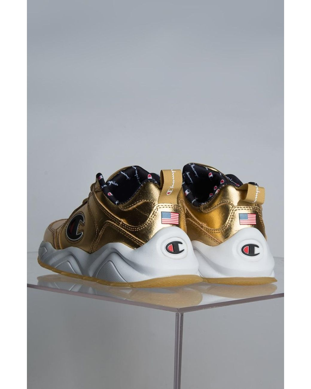 9fe081a470e Lyst - Champion 93 Eighteen Nasa Sneaker In Gold in Metallic - Save 59%