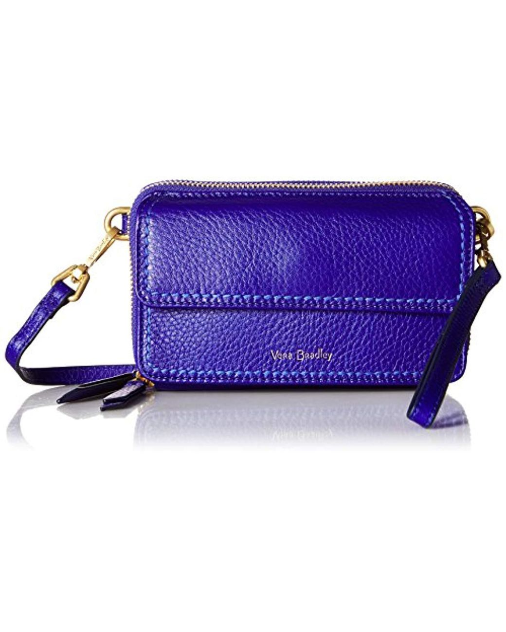 f7cfebb8f Vera Bradley Mallory Rfid All In One Crossbody, Leather in Blue - Save 9% -  Lyst