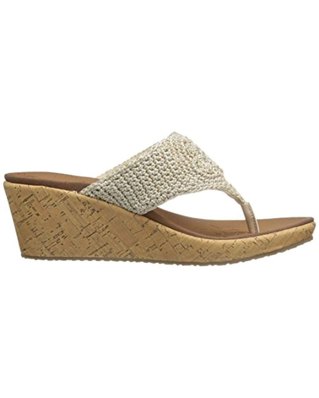 d1f3402b8283 Lyst - Skechers Cali Beverlee Wedge Sandal in Natural - Save 11%