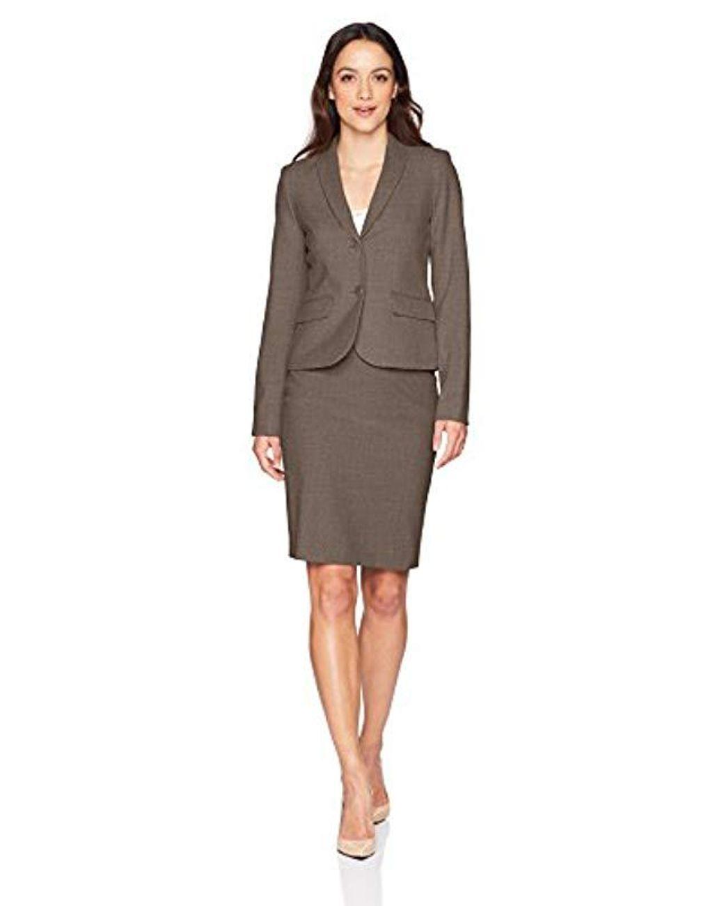 070658537d Calvin Klein Petite Lux Straight Skirt in Brown - Save 22% - Lyst
