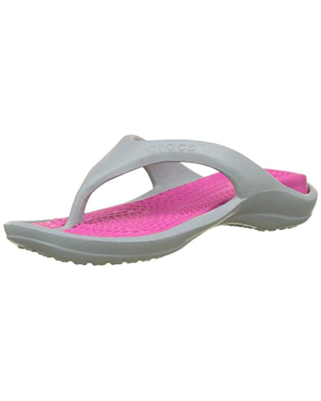 1c896621f437 Lyst - Crocs™ Unisex Adults  Athens Flip Flops in Gray
