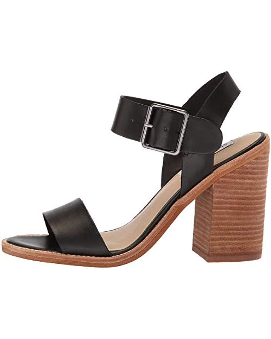 9c19c610521 Lyst - Steve Madden Castro Heeled Sandal in Black - Save 55%