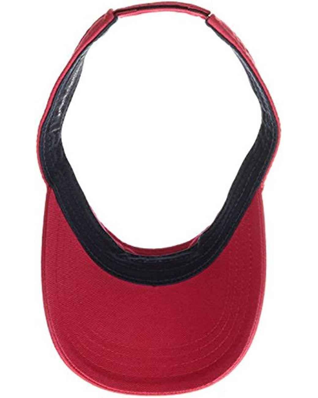 746baabc Tommy Hilfiger Dad Hat Flag Solid Cotton Visor Baseball Cap in Red for Men  - Lyst