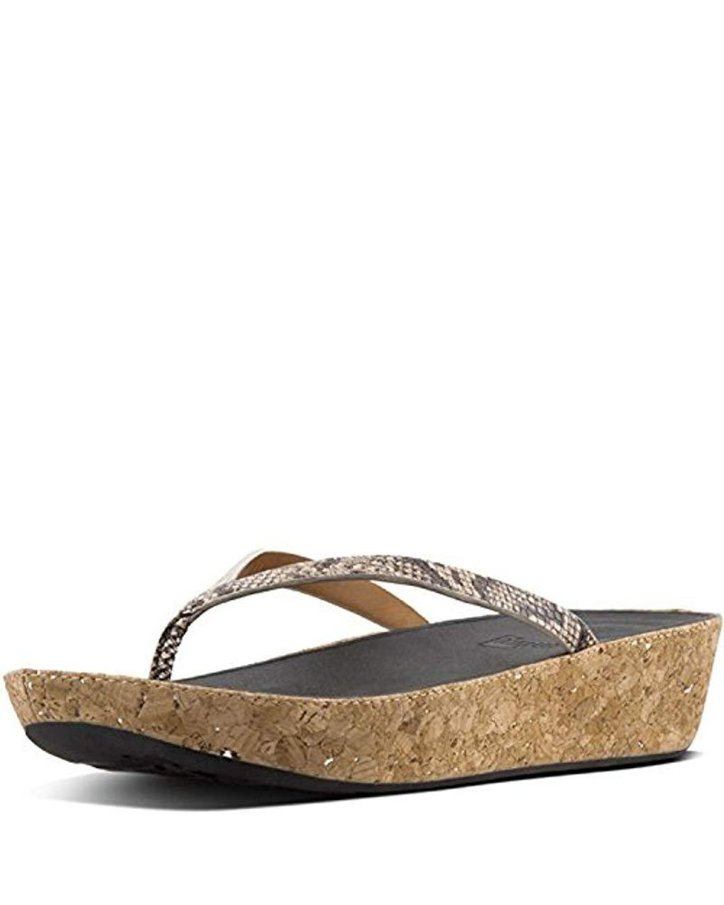 7d56c3ea2d87 Long-Touch to Zoom. Fitflop - Multicolor Linny Toe-thong Sandals-leather  Wedge - Lyst