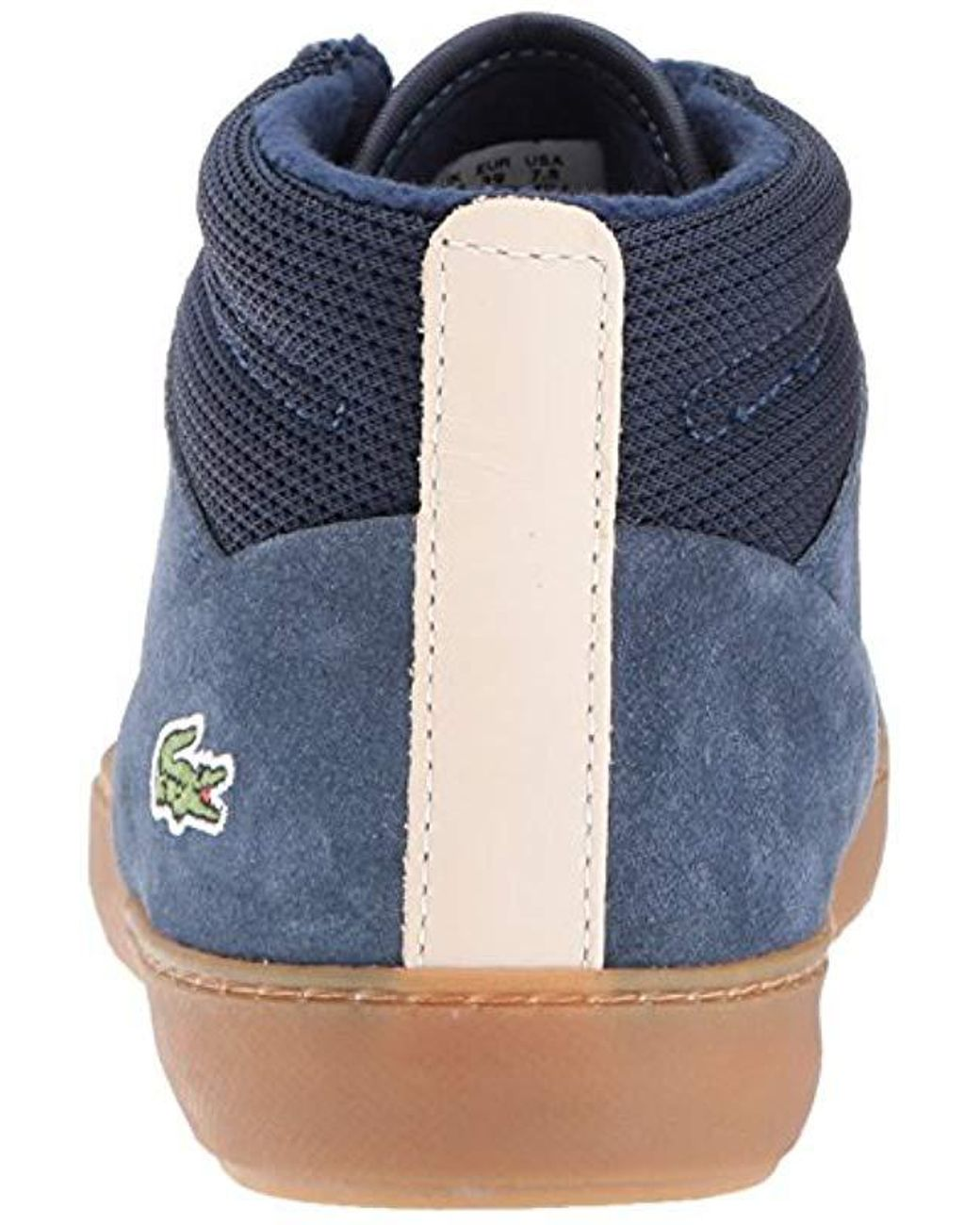 12db42b5c Lyst - Lacoste Ampthill Chukka 417 1 Caw Hi-top Trainers in Blue