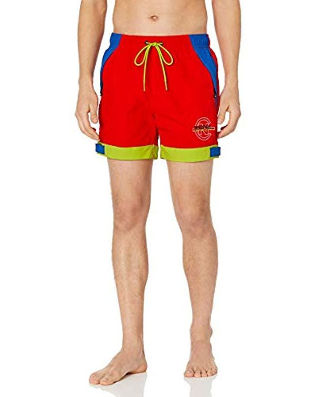 6092703790 Nautica Quick Dry Tri-color Logo Competition Nylon Swim Trunk in Red for Men  - Save 20% - Lyst