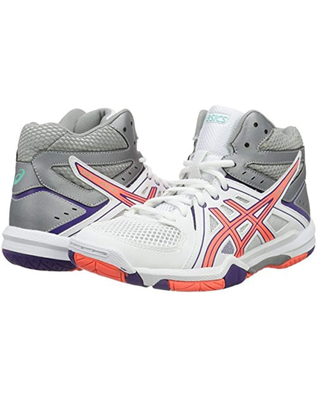 Women's Pink Gel task Mt Volleyball Shoes