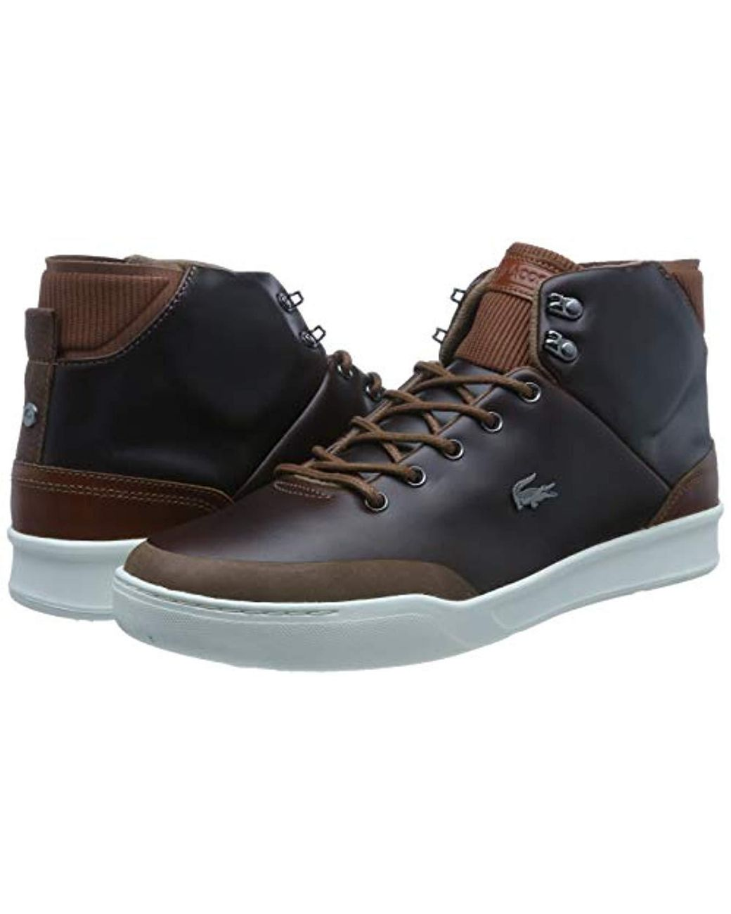 1b11585d322d Lacoste Explorateur Classic 318 1 Cam Trainers in Brown for Men - Lyst