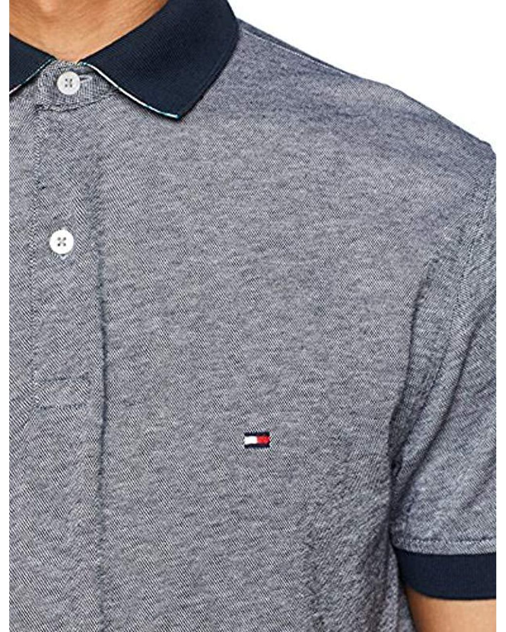e2e159b4 Tommy Hilfiger Printed Undercollar Regular Polo Shirt in Blue for Men -  Save 14% - Lyst