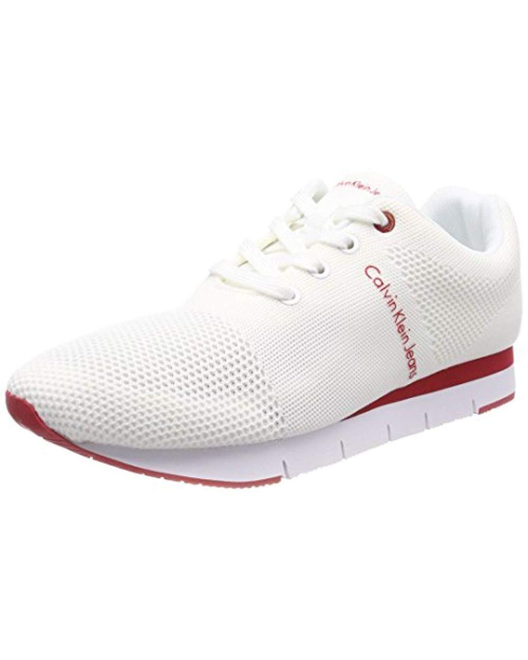 5ec0d59702f Calvin Klein Jado Mesh Low-top Sneakers in White for Men - Save 26 ...