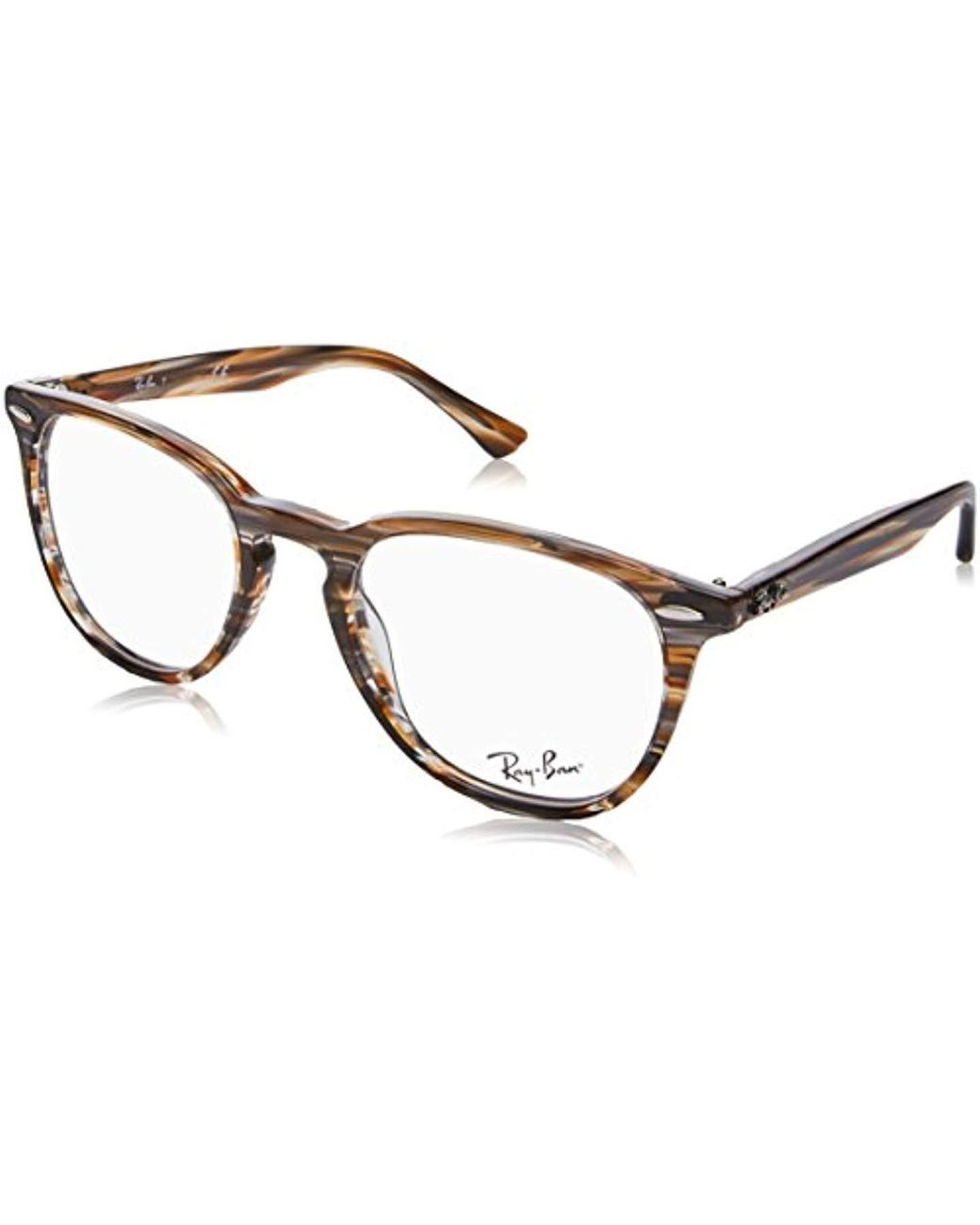 1d4510a489 Ray-Ban Rx7159 5749 50 Glasses In Brown Grey Striped Rx7159 5749 50 ...