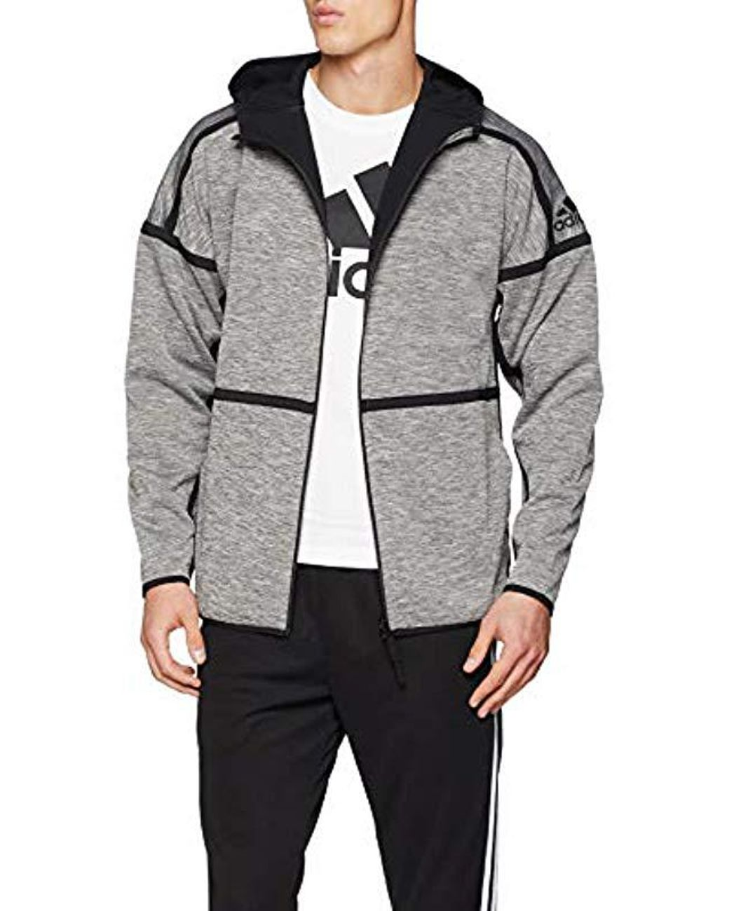 adidas M Zne Revers Hd Sports Hoodie in Gray for Men Lyst