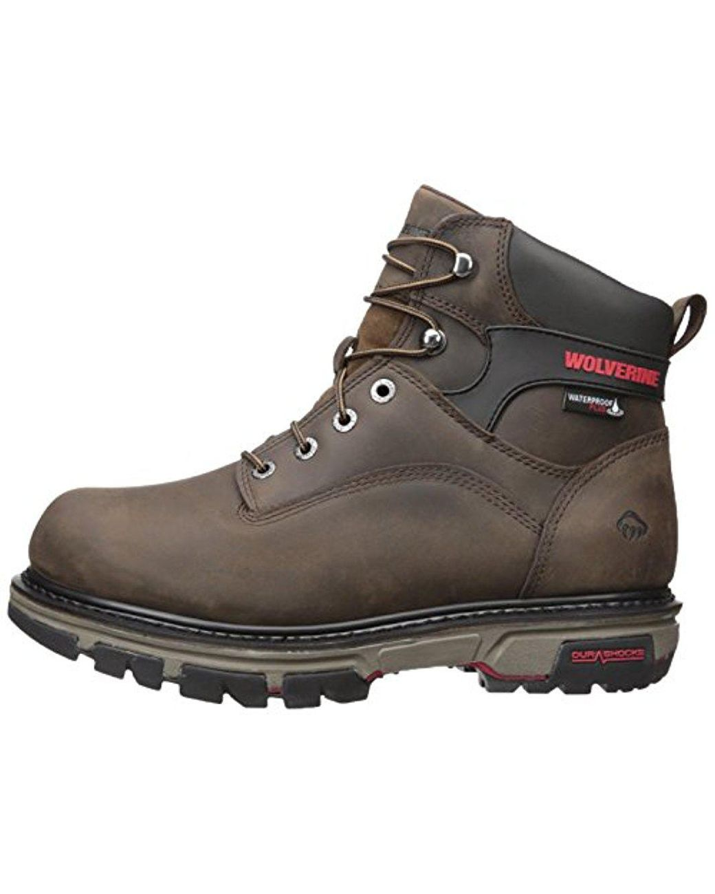 08c392e6e Wolverine Nation 6 Inch Waterproof Soft Toe Work Shoe in Brown for Men -  Save 14% - Lyst