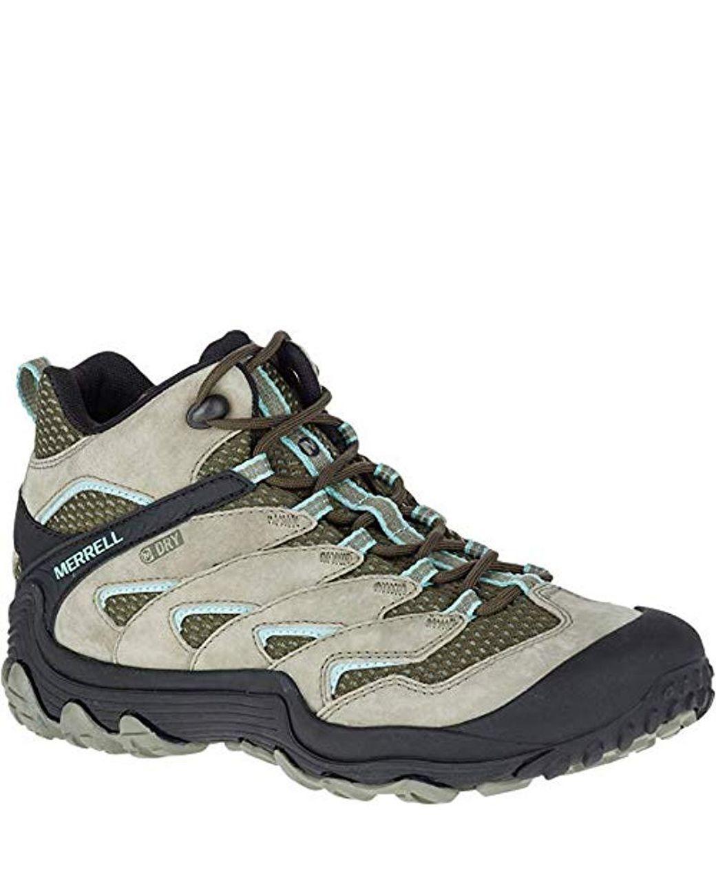 ec32282e3e3 Merrell Chameleon 7 Limit Mid Waterproof Hiking Boot in Green for Men - Lyst