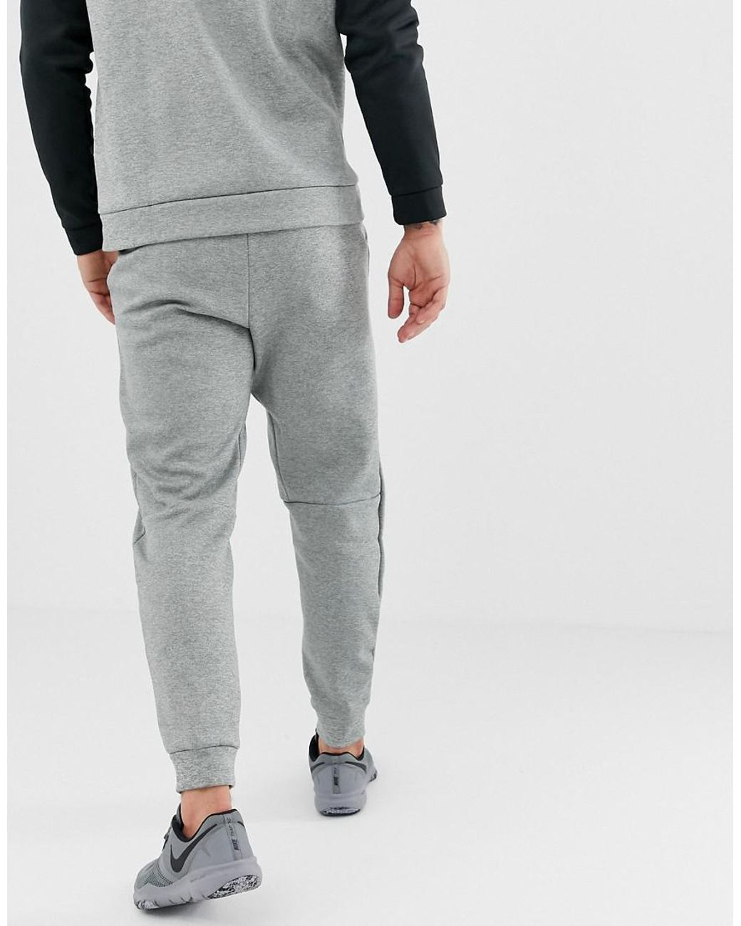 55fd6eed1 Nike Therma Tapered Swoosh Joggers In Grey 932257-063 in Gray for Men - Lyst