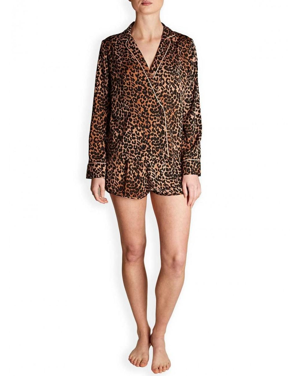 3445c828 Love Stories Vigo Leopard Pyjama Top in Brown - Lyst