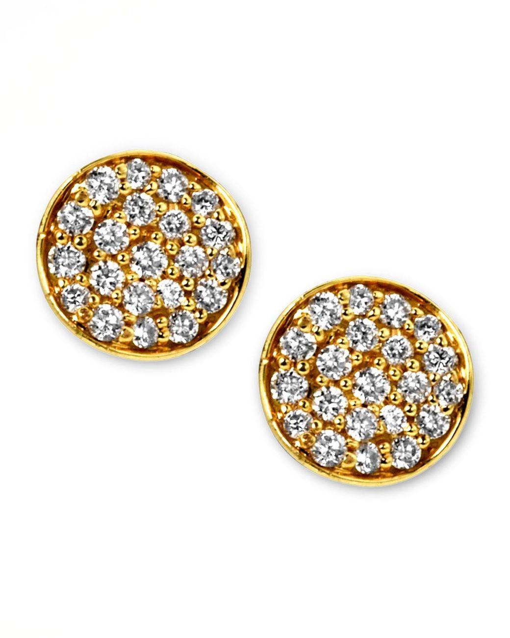 9df415f0a Lyst - Ippolita Stardust Mini Diamond Stud Earrings in Metallic ...
