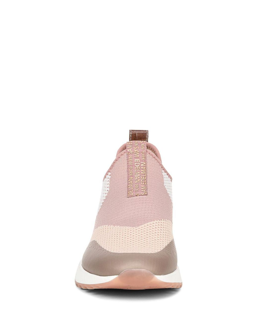552aa9678 Sam Edelman Women s Dania Knit Slip On Sneakers in Pink - Save 58% - Lyst