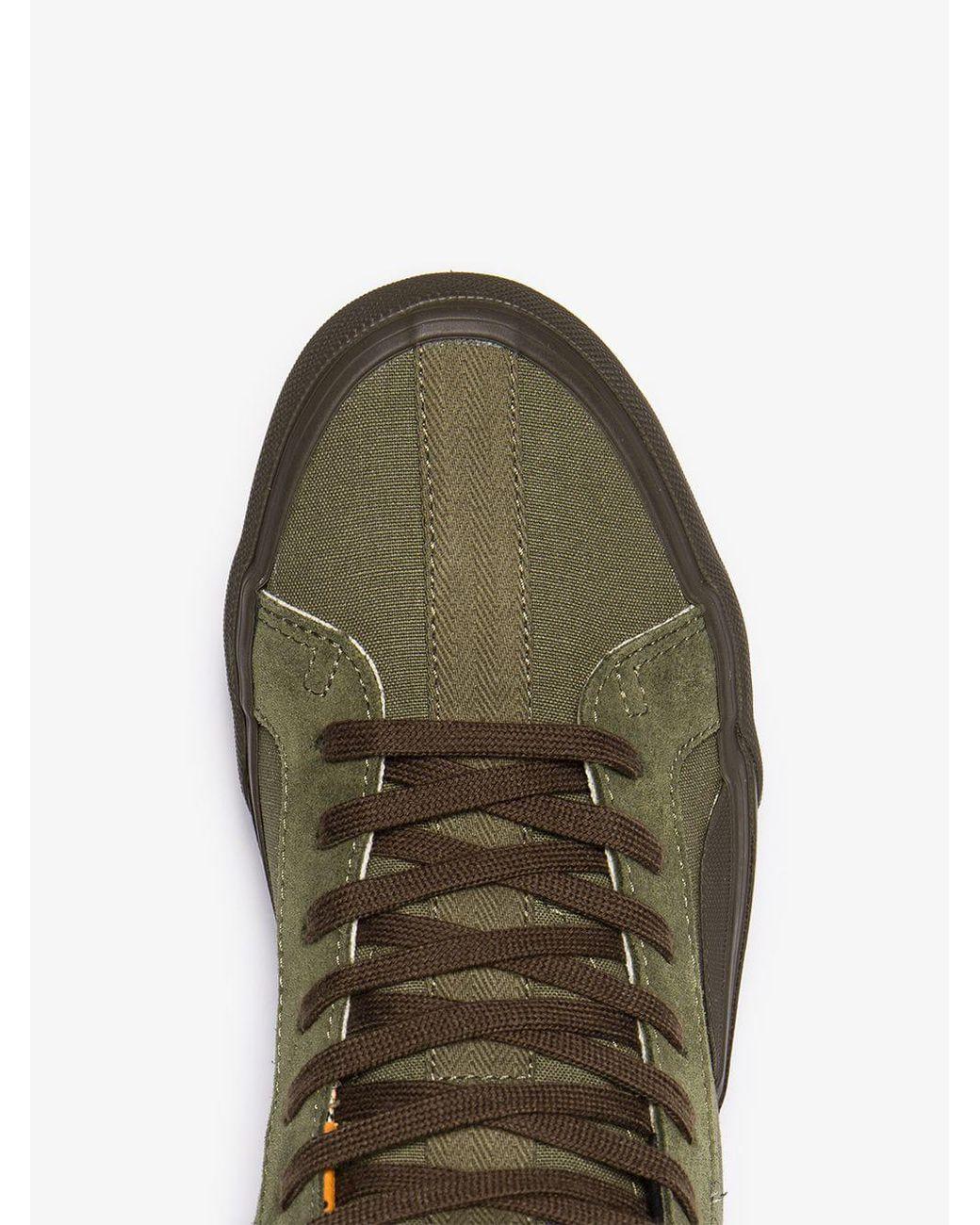 60459753e5 Lyst - Vans Green Vault Cotton High Top Trainers in Green for Men