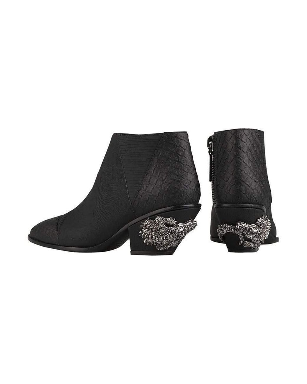71a402e831aff Giuseppe Zanotti Kevan Alligator Print Ankle Boots in Black - Save 5% - Lyst