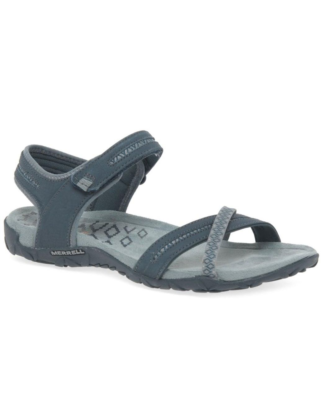 b0b888675bcc Merrell Terran Cross Ii Slate Womens Sandals in Gray - Lyst