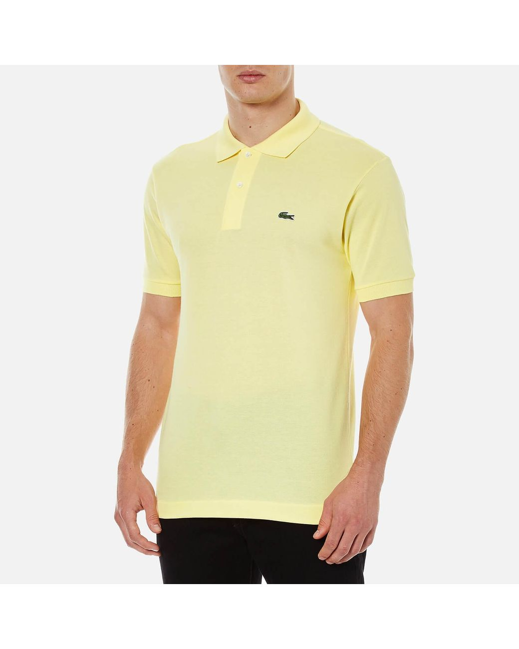 2abfacca8 Lacoste Pique Polo - Classic Fit in Yellow for Men - Save 31% - Lyst