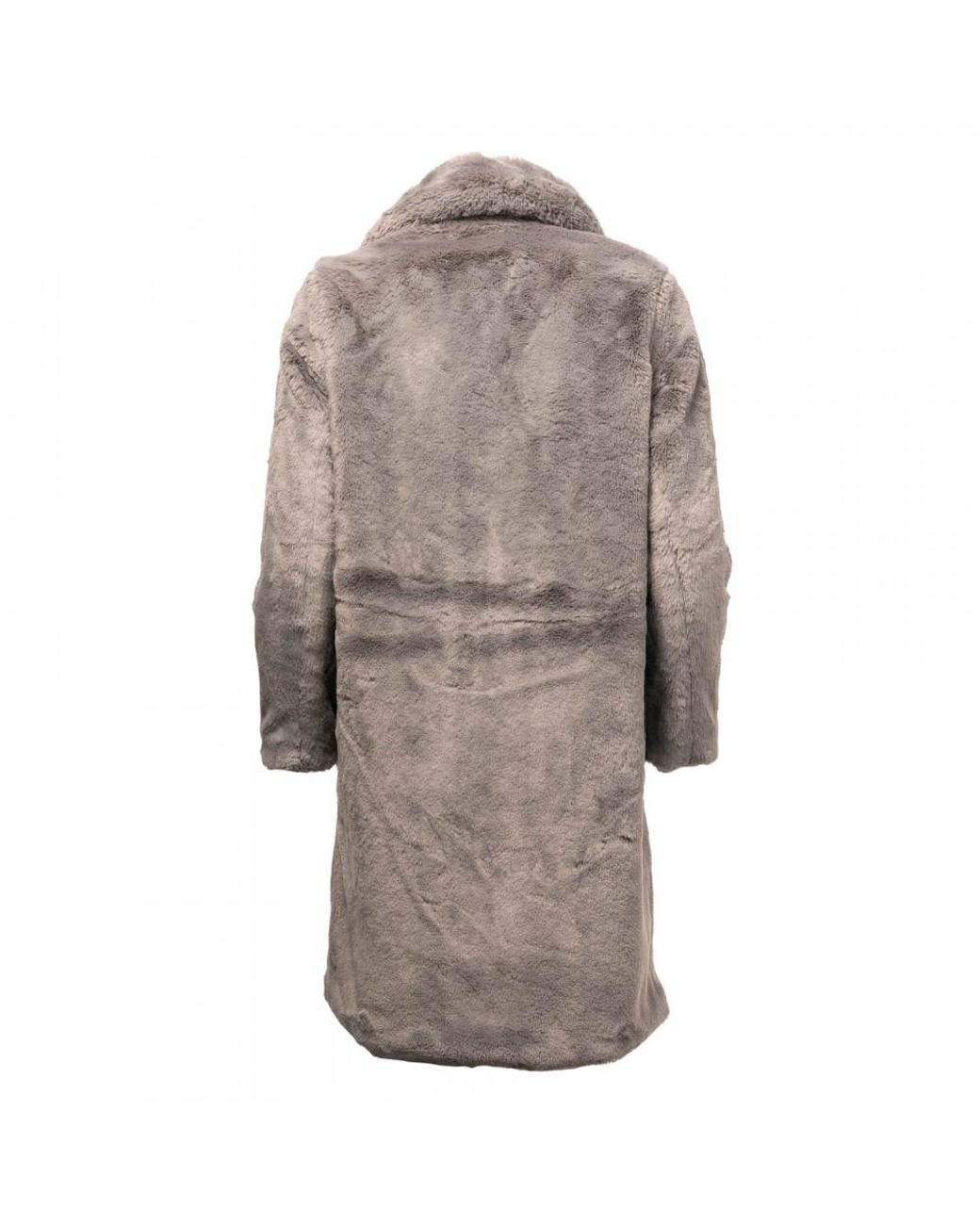 55476114d French Connection Pf Annie Faux Fur Double Breasted Womens Fur Coat in Gray  - Lyst