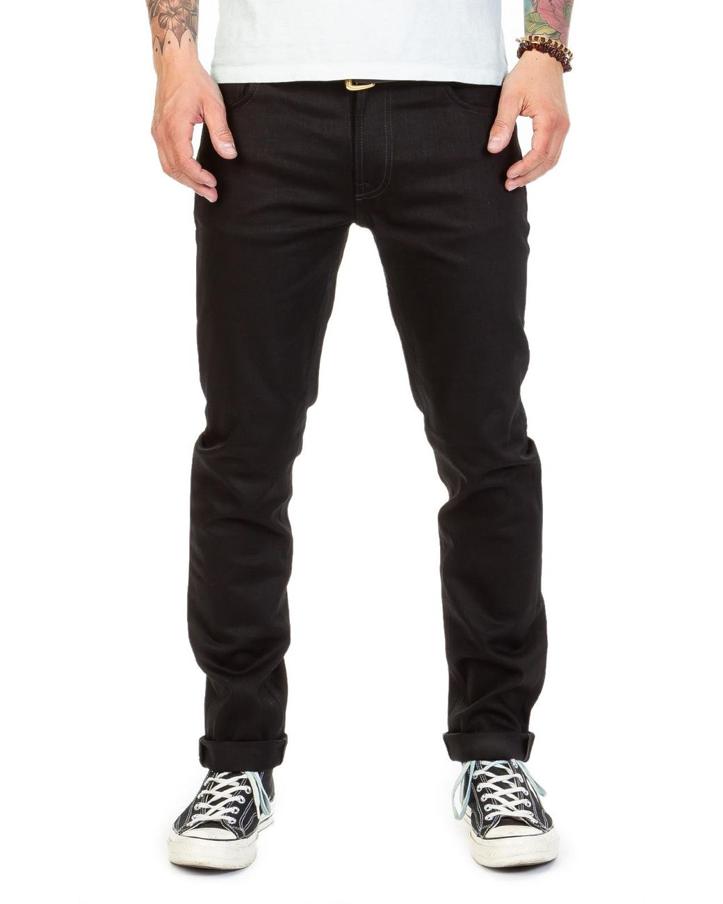 949f29ca Nudie Jeans Thin Finn Dry Cold Black 11.75oz in Black for Men - Lyst