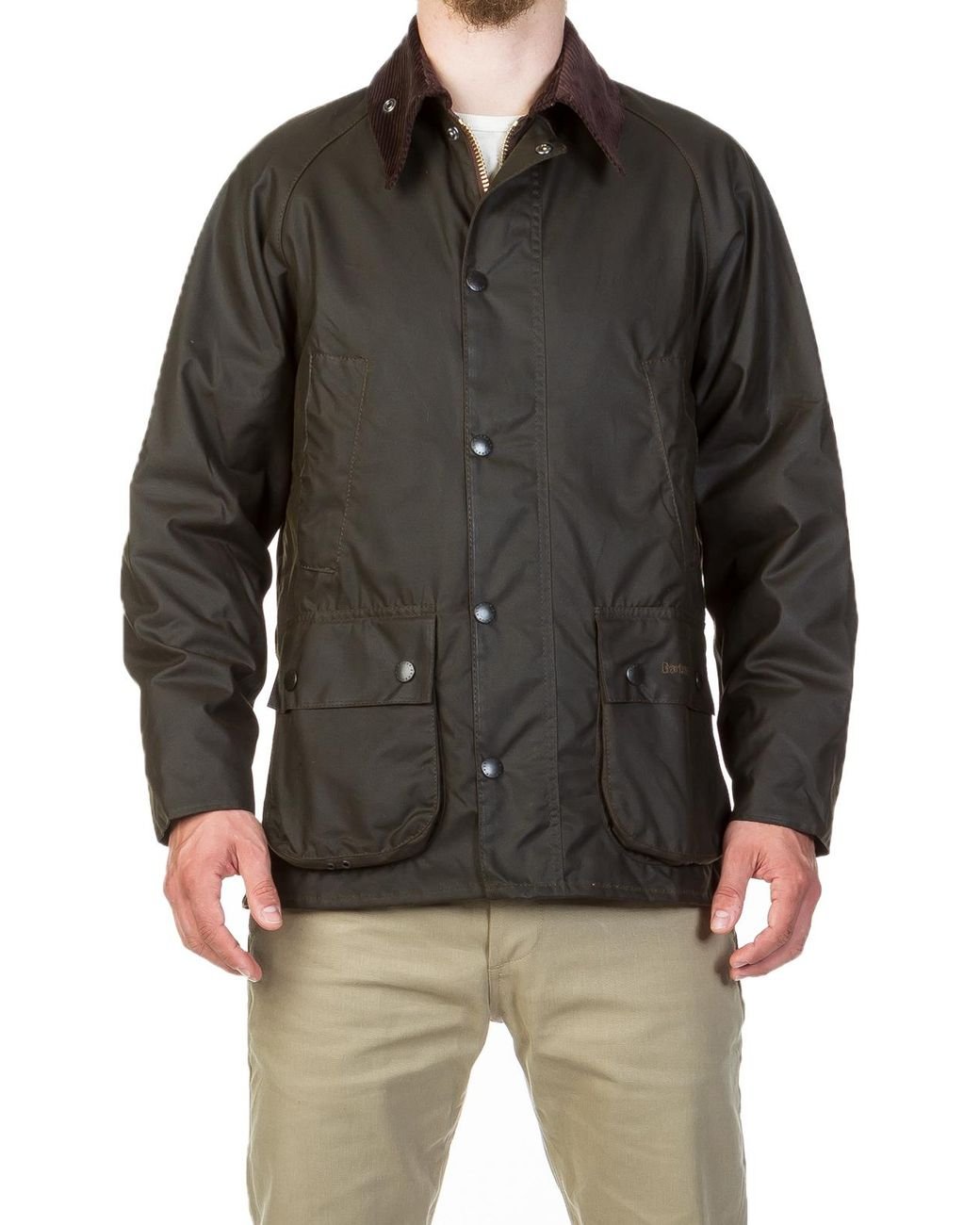 dc7df07e2696 Barbour Classic Bedale Wax Jacket Olive in Green for Men - Save 9% - Lyst