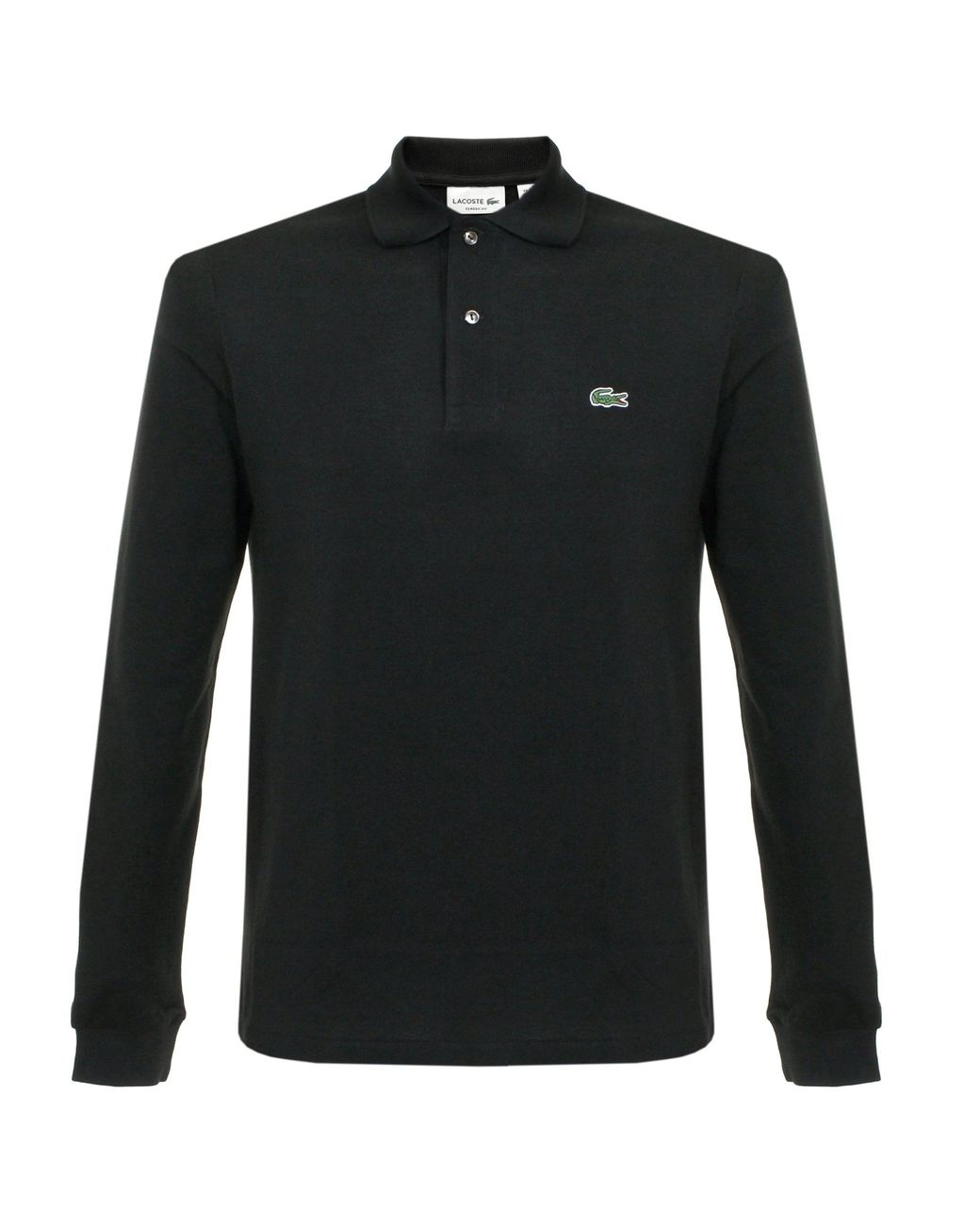 a921fa88c Lacoste Pique Black Ls Polo Shirt L1312 in Black for Men - Save 15% - Lyst