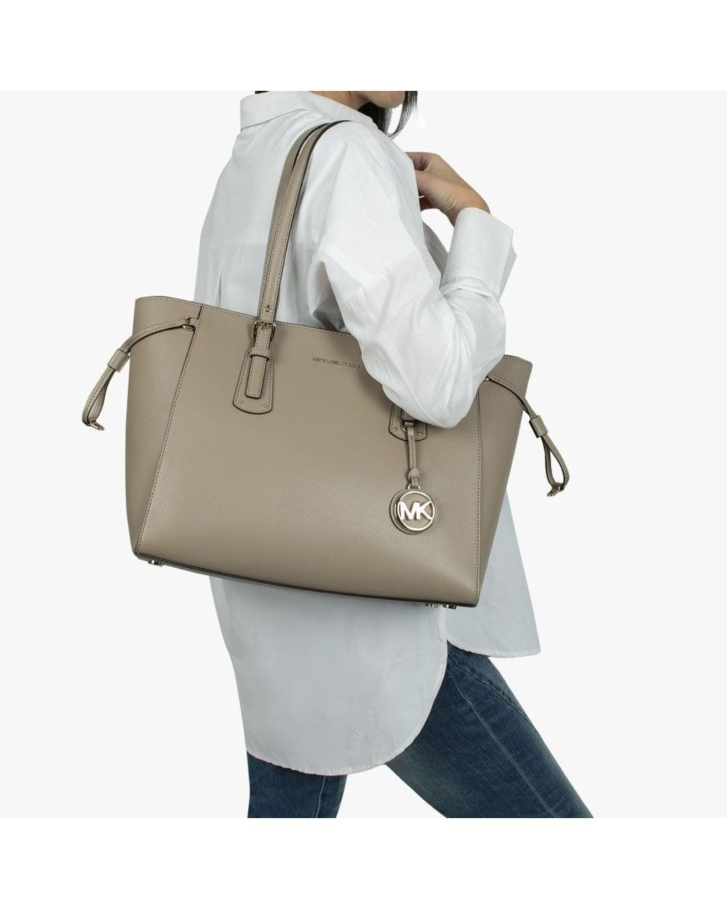 370717d34 Michael Kors Voyager Truffle Saffiano Leather Tote Bag - Save 9% - Lyst