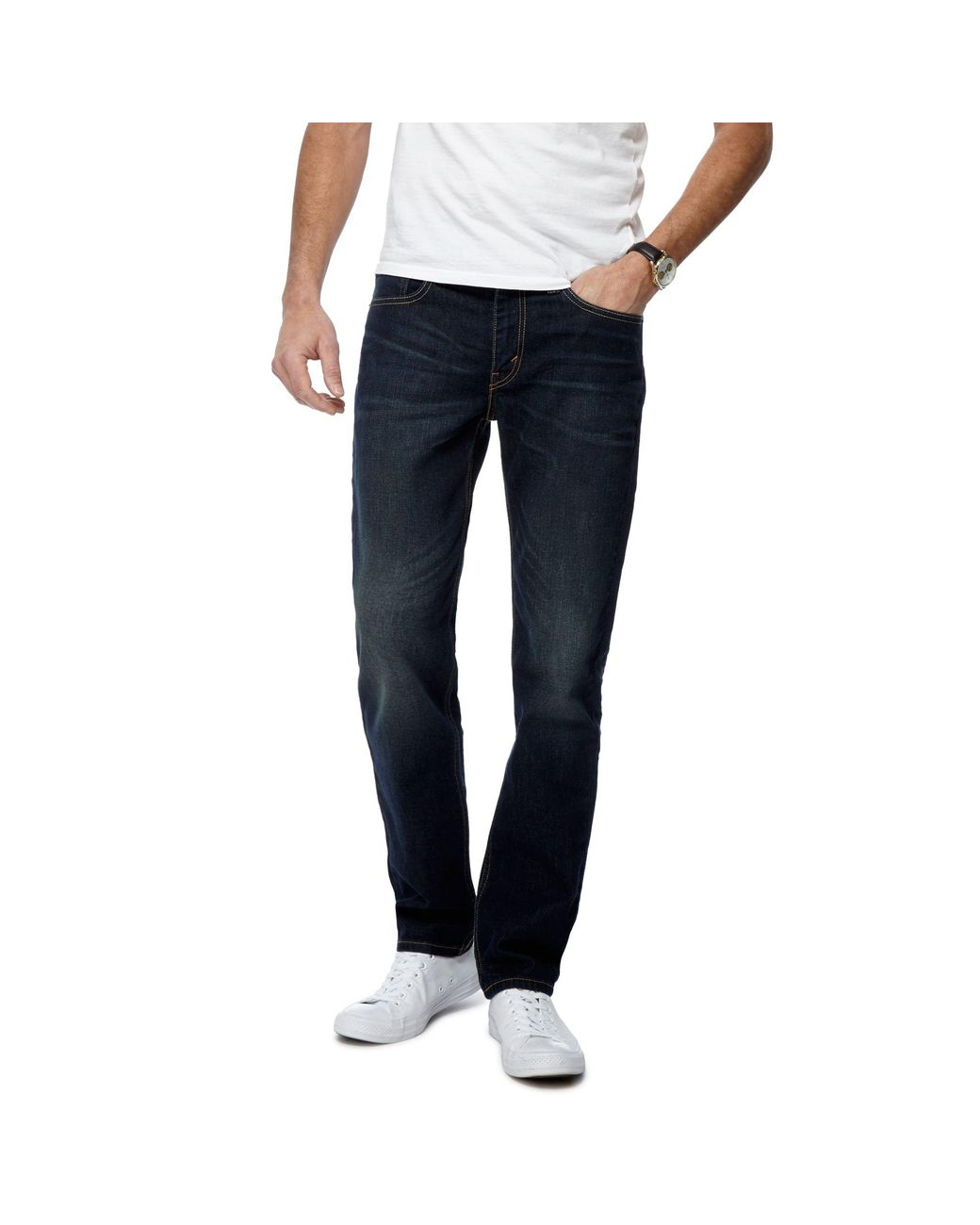 54fcd140a4f Levi's Blue Dark Wash '511®' Slim Jeans in Blue for Men - Lyst