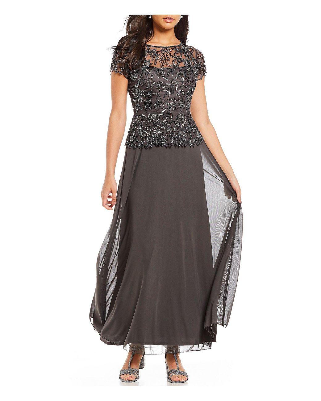 3967592b57f1 Pisarro Nights Chiffon Beaded Bodice Mock Two-piece Gown - Lyst