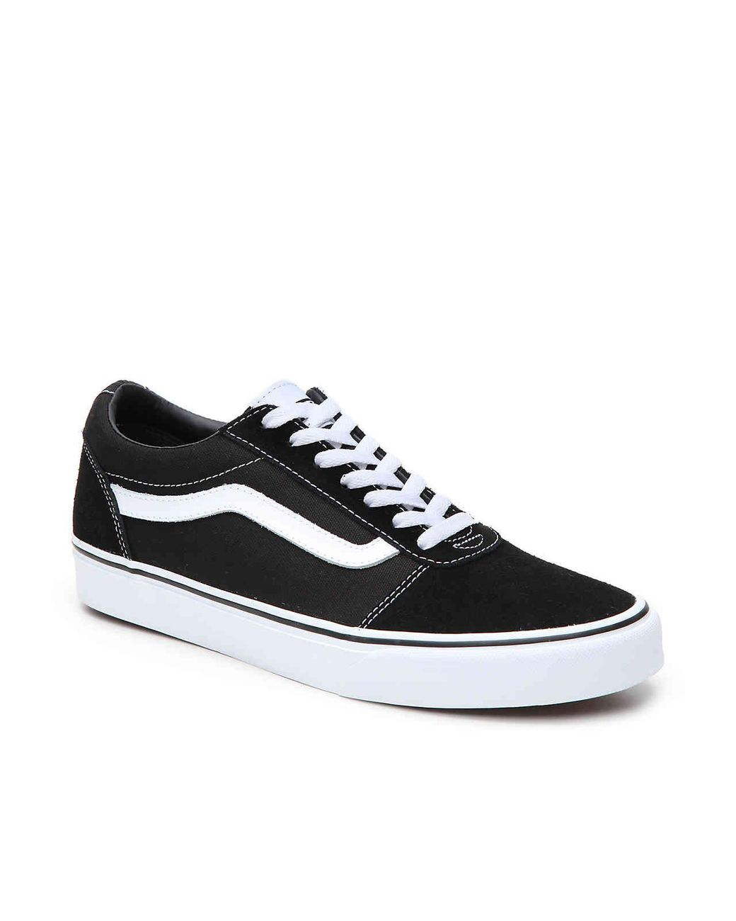 9d898f0336 Lyst - Vans Ward Suede canvas Low-top Sneakers in Black for Men