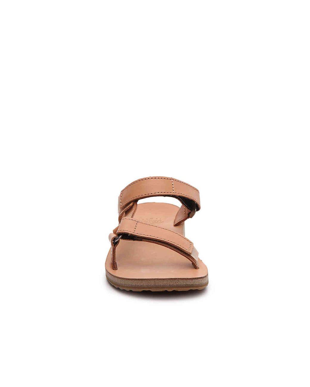 8fb627151 Lyst - Teva Universal Slide Leather Flat Sandal in Brown