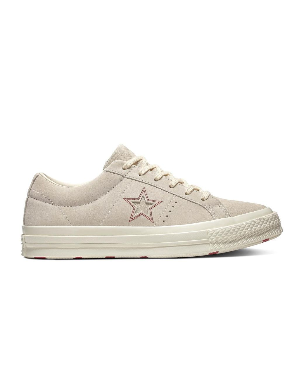 495f1a0a5eaf Converse. White One Star Love In The Details Unisex Casual Suede Low-top  Trainers
