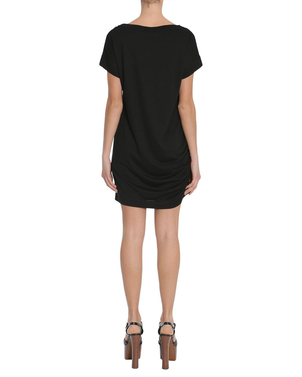 1420597d05389 Lyst - Versace Logo T-shirt Dress in Black - Save 67%