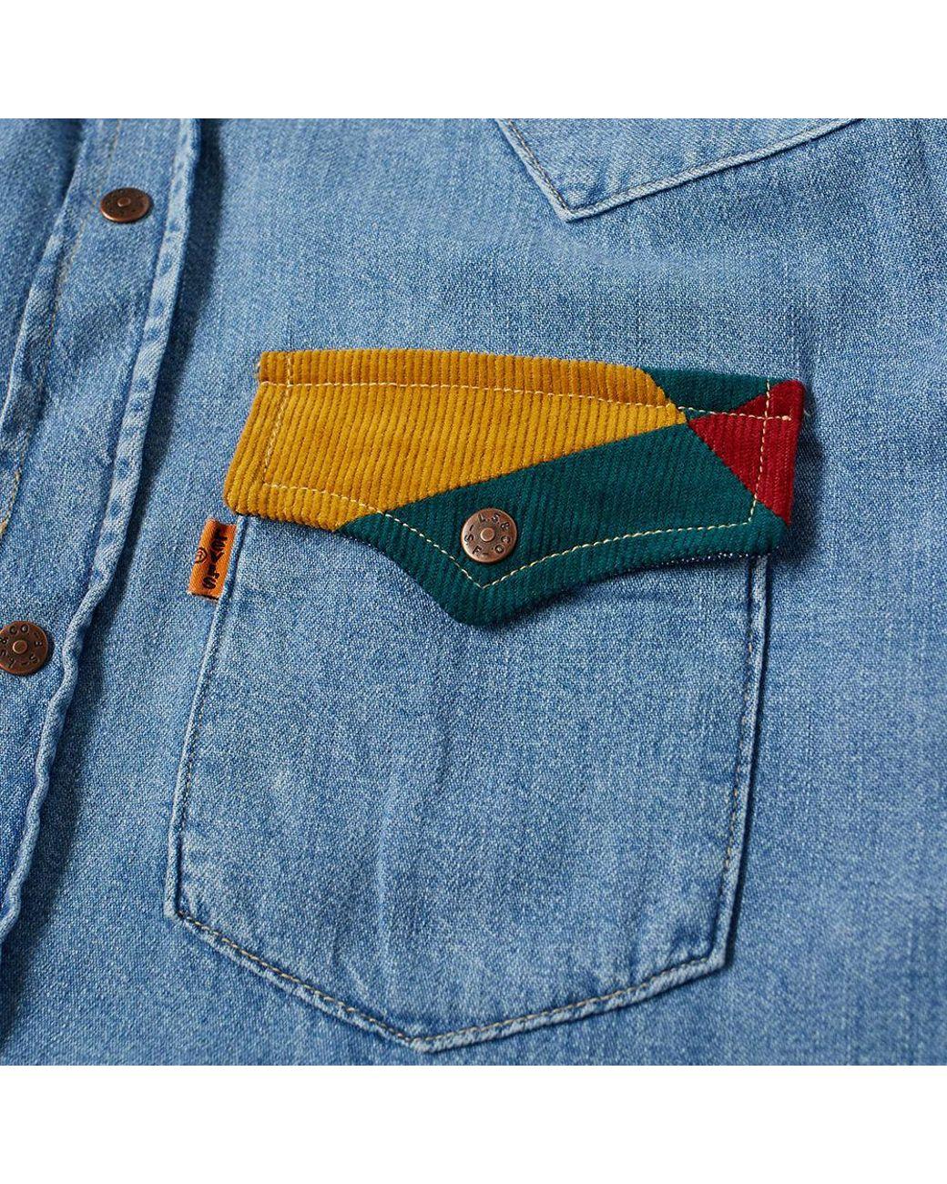0703f40d76 Lyst - Levi s Levi s Vintage Clothing 70 s Denim Shirt in Blue for Men -  Save 5%