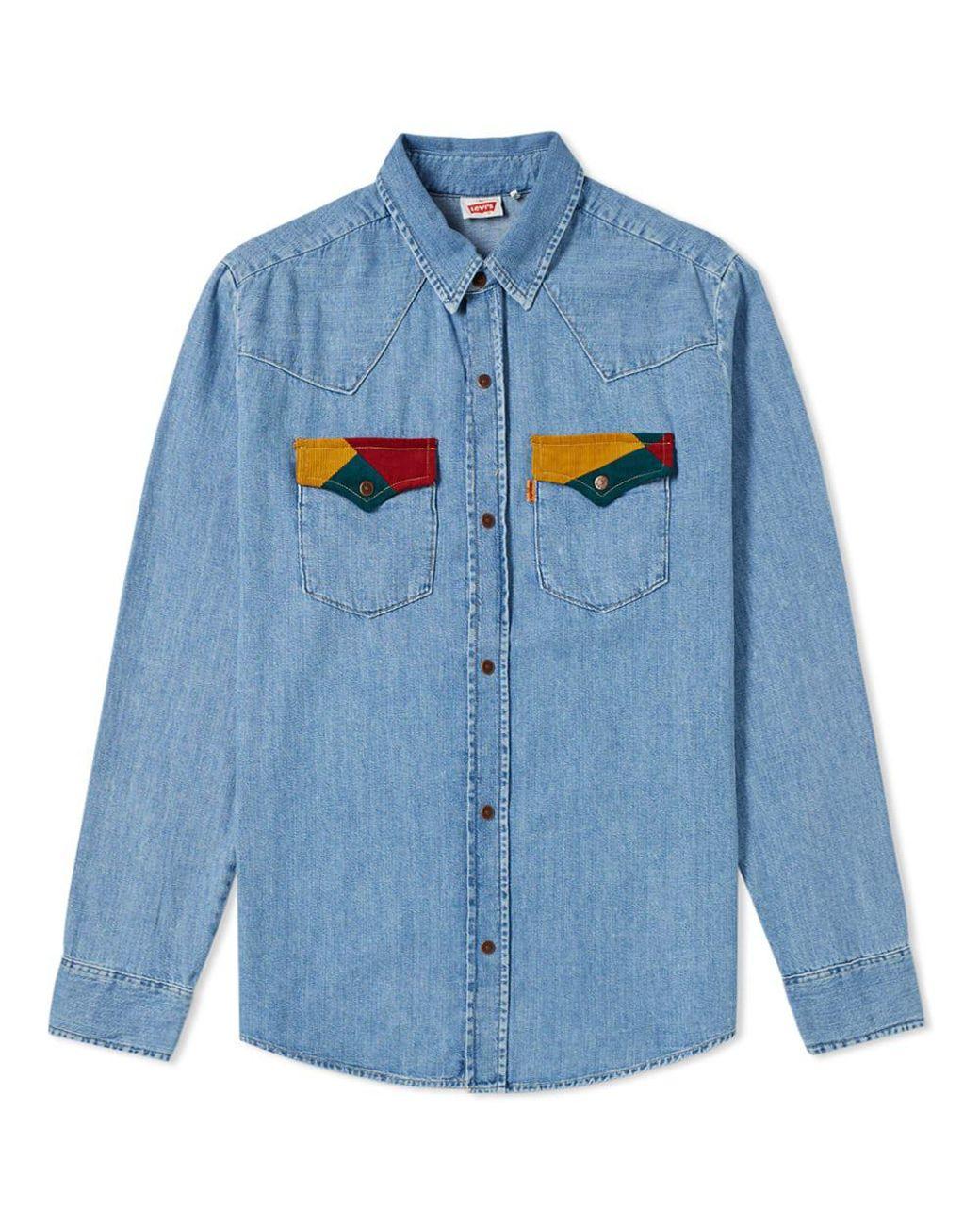 21e874e204 Lyst - Levi s Levi s Vintage Clothing 70 s Denim Shirt in Blue for ...