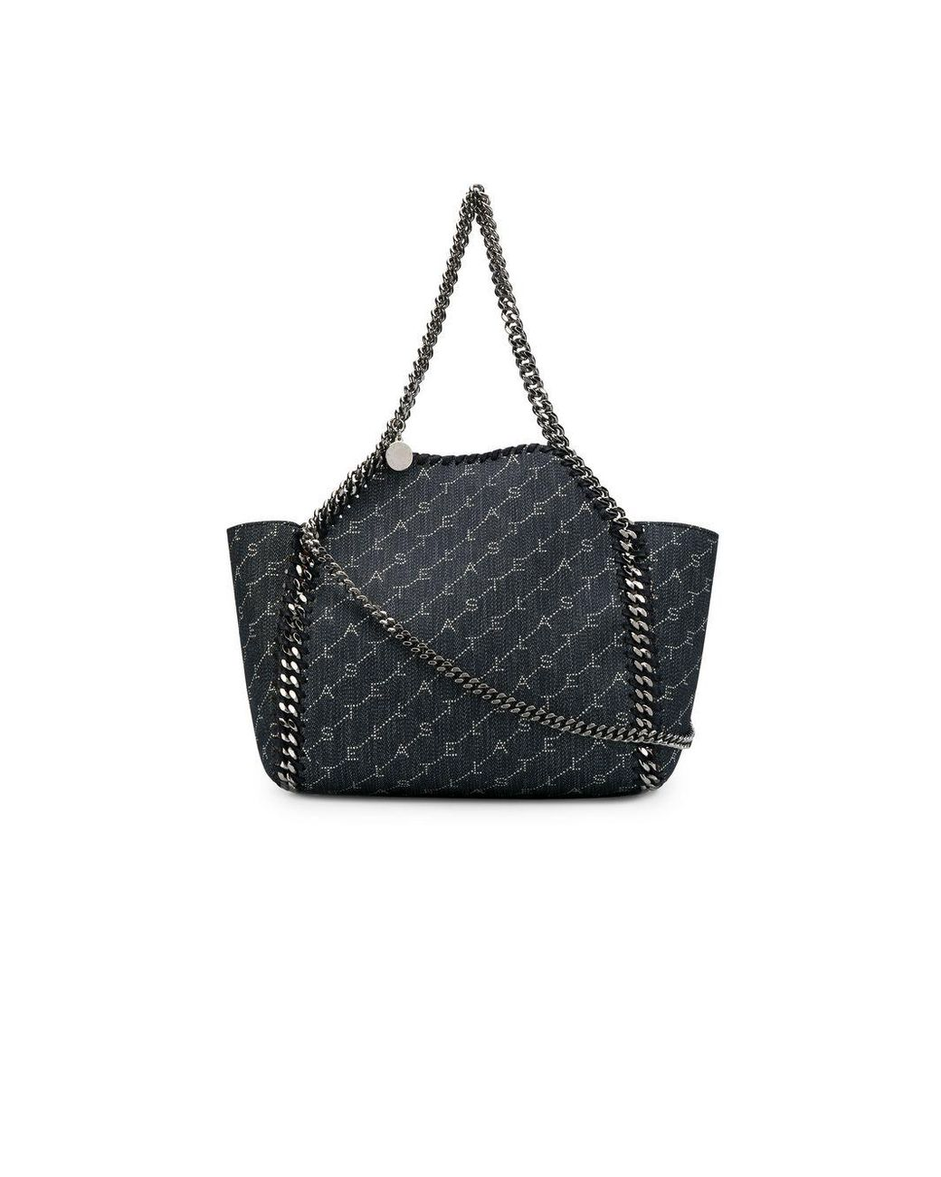 4671d9fa8e02 Stella McCartney. Women's Denim Blue Falabella Mini Chain Trim Denim Tote  Bag