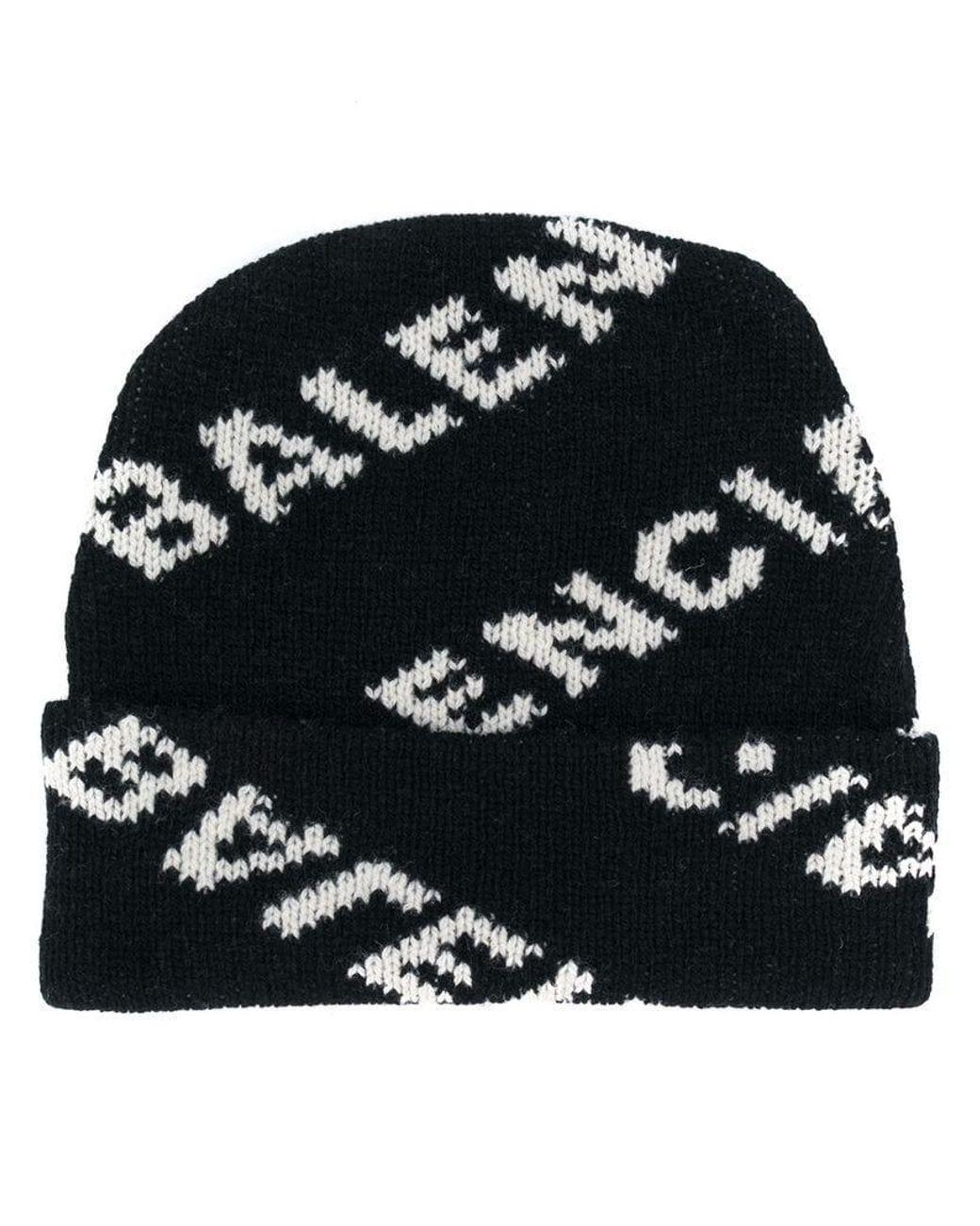 64c71f8161e9f Bonnet à Motif Monogrammé Balenciaga pour homme en coloris Noir - 16 % de  réduction - Lyst