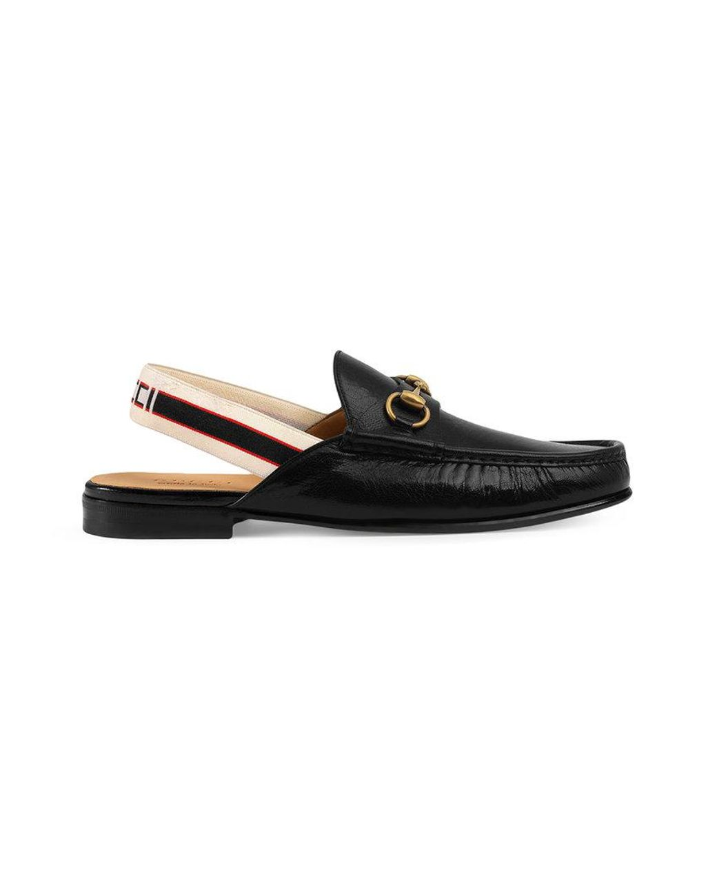 859e46e0b0f Lyst - Gucci Horsebit Stripe Slingback Slipper in Black for Men